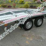 Bérelhető alumínium autószállító tréler 400cm x 200cm